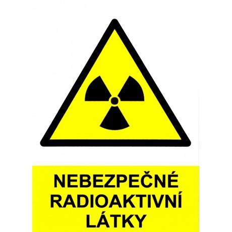 Nebezpečné radioaktivní látky - samolepka