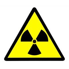 Radioaktivní látky - samolepka velká